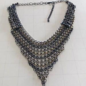 Jewelry - Gunmetal chain mail necklace